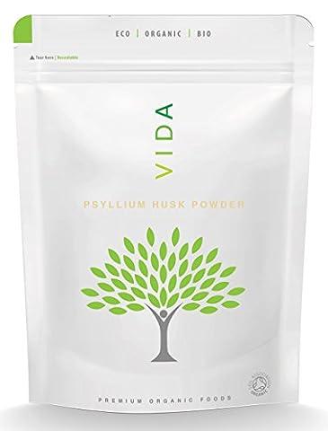 VIDA Superfoods BIO Flohsamenschalenpulver - 125g (Biologisches Zertifiziertes)
