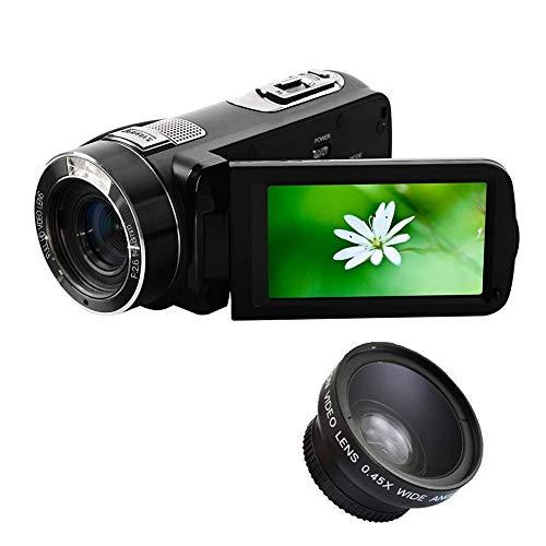 ZAQXSW Videokamera-Camcorder Full HD 1080p-Digitalkamera 24.0MP, 16facher Digitalzoom, 3,0-Zoll-LCD, 270 ° -Drehbildschirm mit Fernbedienung