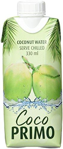 COCO PRIMO Kokosnusswasser 100 % Pur, 12er Pack (12 x 330 ml) (Weißer Wasser, Kokosnuss, Tee)