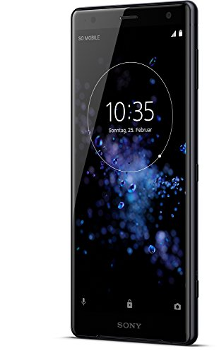Image of Sony Xperia XZ2 Smartphone (14,5 cm (5,7 Zoll) IPS Full HD+ Display, 64 GB interner Speicher und 4 GB RAM, Dual-SIM, IP68, Android 8.0) Liquid Black - Deutsche Version