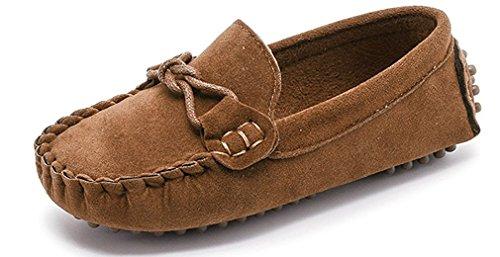 KVbaby Slip-on Wildleder Loafers Mokassin für Jungen und Mädchen Kinder Mokassin Comfort Oxford Freizeitschuhe Halbschuhe