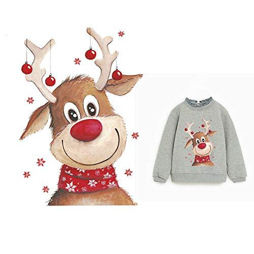 Ljym88 Parche Ropa Ropa Navidad niños Tops Bricolaje