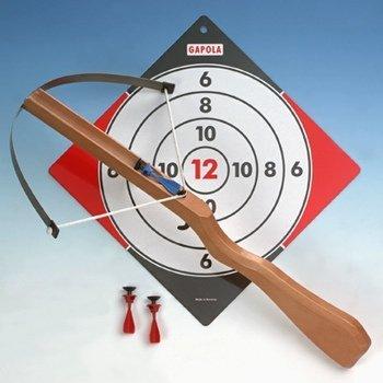 Armbrust für Kinder, Kinderarmbrust mit 6 Sicherheits-Pfeilen und Spieltipps