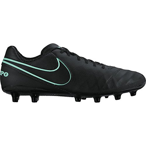 Nike Tiempo Genio Ii Leather Ag-Pro, Chaussures de Football Homme 103 WHITE/BLACK-ELECTRO GREEN