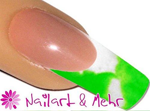 De 2 Färbiges acrylique de poudre 5 g, 2tones-21 Blanc/Vert Fluo – envyu : # 2T pour la Rapide mais joli Nail Art