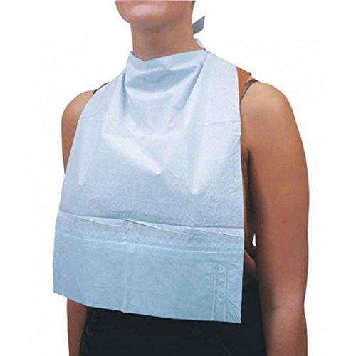 KosmoCare Hygienic Protective Disposable Adult Tie-Back Bibs - Green : Made in EU (Set of 50 pcs )