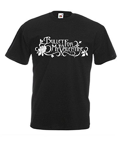 T-shirt Uomo - Bullet for my Valentine maglietta con stampa rock 100% cotonee LaMAGLIERIA,M, Nero