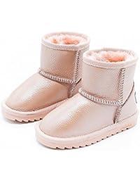 1e54938b45c Botas de Nieve para Niños Botas de Invierno para Niños Grandes, Además de  Zapatos de Algodón Impermeables…