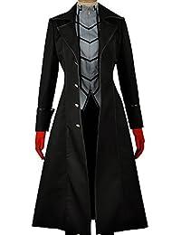 Protagonist Kostüm Deluxe Outfit Schwarz Uniform Cosplay Mantel Shirt mit Zubehör Halloween Verrückte Kleid Merchandise