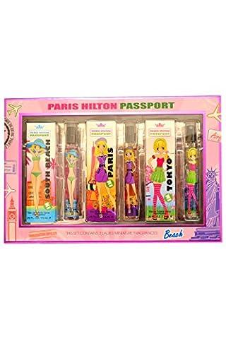 Paris Hilton Passport Gift Set - 3 x 7.5ml Tokyo/Paris /South Beach (7,5 Ml Edt)