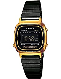 Casio Collection – Damen-Armbanduhr mit Digital-Display und Edelstahlarmband – LA670WEGB-1BEF