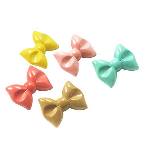 IPOTCH 5 pcs Acryl Bowknot Form Schleife Haarspangen Haarklammern Bowknot für Kleidungsstücke, Kleidung, Taschen