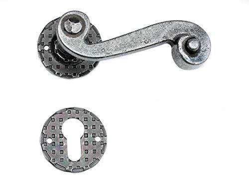 UHRIG ® #519 Drückergarnitur Satz Paar Klinke Antik Eisen Design Türdrücker Türklinke Türgriff