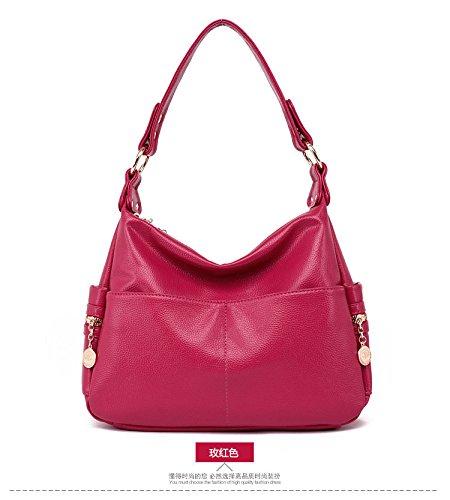 Meoaeo Single Schulter Tasche Neue Mama Und Mama Bag Fashion Rose red