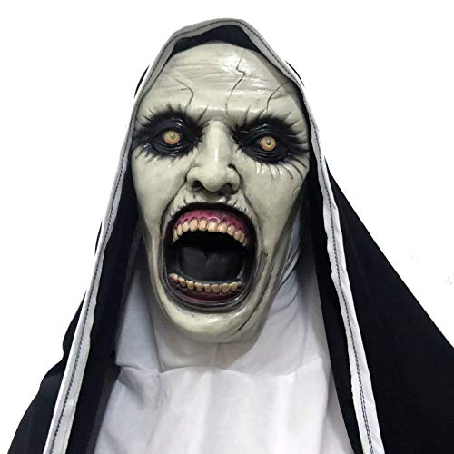 ChYoung 2019 Hood Halloween Mask Horror Scary Vollkopf Latex Maske Cosplay Kostüm für Halloween (Horror Halloween Kostüme 2019)