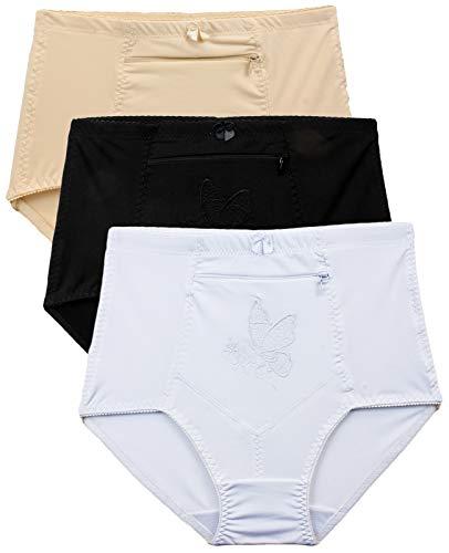 Barbra's Damen Reisetaschen-Unterwäsche, Hose, S-4XL - - 4X-Large Taille 48/52