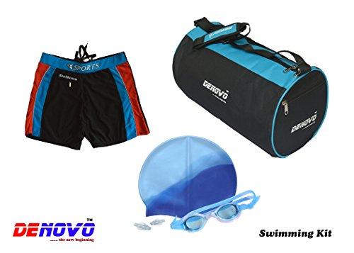 DeNovo Cap Goggle Bag Trunk  3XL  Swimming Kit Swim Caps