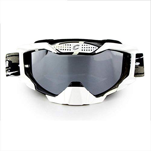 Giow Ski-Brillen, Snowboard Adjustable UV 400 Protective Motorcycle Brille Outdoor Sports Tactical Brillen Dust-Proof Kampf Militär-Sonnenbrillen,2