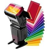 Buytra Lot de 12filtres colorés pour flash Canon Speedlite 600EX 580EX II/580EX 430EX 320EX 270EX