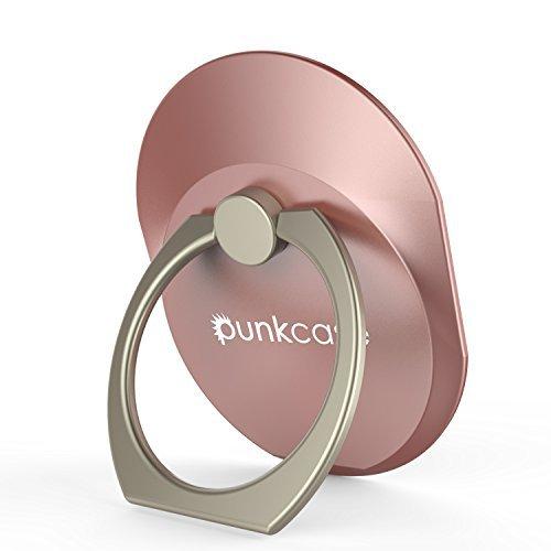 punkcase S Ring Universal Handy Halter Auto montieren Ständer für Smartphones Phablets und Tabletten sicher bequem betreiben Ihr Iphone oder Android-Gerät mit einer Hand Rose Gold (1 Unze Schwarze Rose)