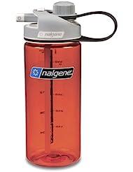 Nalgene Multidrink - Bidón de acampada y senderismo, color rojo