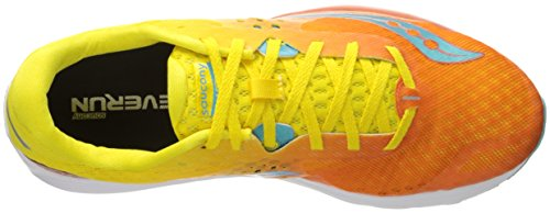 Saucony Damen Kinvara 7 Laufschuhe Orange/Yellow/Blue