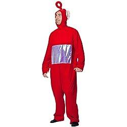 Joker J505-001 Teletubbies Po Adulto Costume di Carnevale, in Busta, Rosso