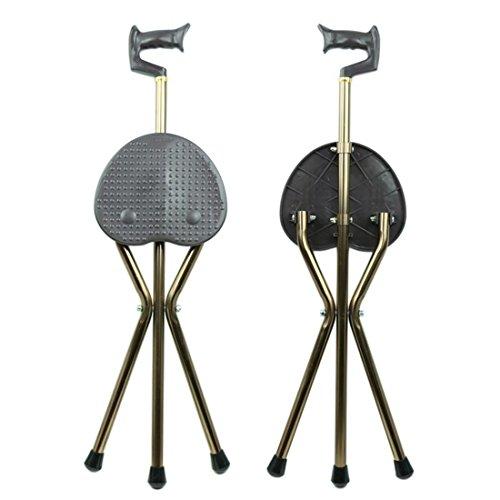 Brown Cane Chair. Faltung von Aluminiumlegierungen-Behinderte Walking AIDS-alte Menschen sind mit einem Sitz Walker ausgestattet.