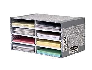 fellowes 0875006 trieur de bureau banker box system gris fournitures de bureau. Black Bedroom Furniture Sets. Home Design Ideas