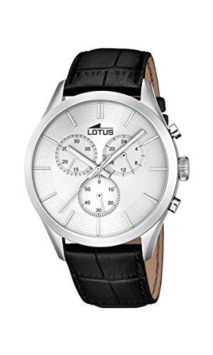 Lotus - 18119/1 - Montre Homme - Quartz - Chronographe - Chronographe - Bracelet Cuir Noir
