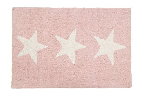 Happy Decor Kids Alfombra Hdk-Three Stars Rosa 120 x 80 cm