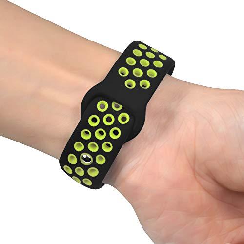 Voberry New Lightweight Replacement Ventilate Sport Soft Wristband Wrist Strap for Xiaomi Mi Band 3 (Green)