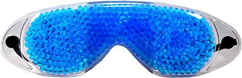 M&H-24 Kühlmaske Kühlbrille Gelmaske Gel-Augenmaske - Schlafmaske Entspannungsmaske Gelbrille Maske für Augen gegen geschwollene Augen und Augenringe mit Gel-Perlen 1 Stück