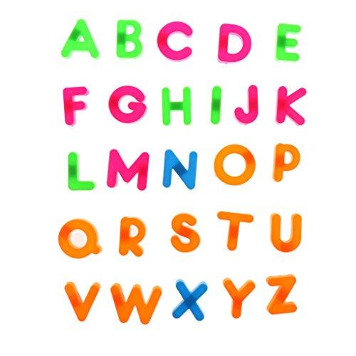 Sharplace 26 Piezas Juguete Letras de Alfabeto Coloridos Juego de Enseñanza Temprano para Niño / Bebé