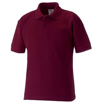 Jerzees Schoolgear Kinder Pikee Polo Shirt (1-2 Jahre) (Burgunder)
