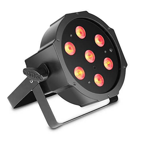Cameo Light CLPFLAT1TRI3WIR 7 x 3 W Tri Colour Flat LED RGB PAR Scheinwerfer in schwarzem Gehäuse - Rgb Flat Led