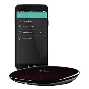 Logitech Harmony Hub (Funktioniert mit Amazon Alexa), Schwarz - Haussteuerung mittels Hub und App