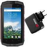 Pack Crosscall Trekker-M1 Core + Batterie Externe Powerbank - Smartphone Portable Débloqué 4G (Ecran : 4,5 Pouces - 16 Go - Double Micro-SIM - Android) Noir/Rouge