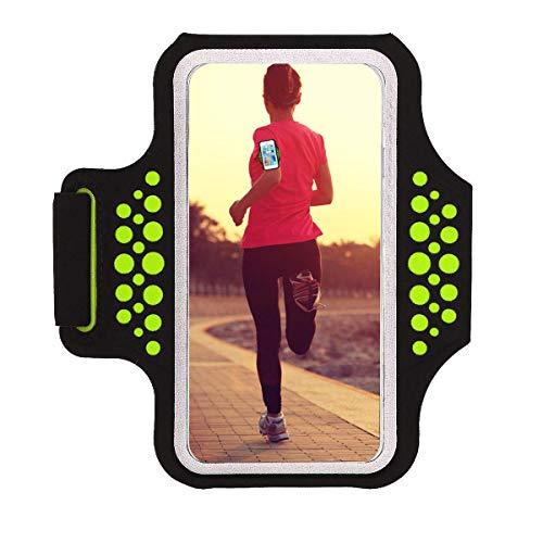 Fascia Da Braccio Sportiva iPhone 7/ iPhone 8,Haissky sweatproof corsa fascia da braccio per iPhone 7/6, Galaxy S6/S5, iPhone 5/5C/5S fino a 5,1 Pollici con ID Porta carte di credito denaro