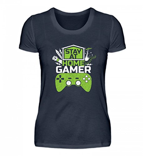 Maglietta Organica Da Donna Di Alta Qualità Per Shirtee - Rimani A Casa Con I Giocatori - Videogiochi Di Gioco Online Con Giochi Multiplayer Online