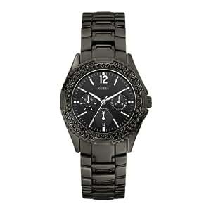 Guess - W14543L1 - Montre Femme - Quartz Analogique - Cadran Noir - Bracelet Acier Noir