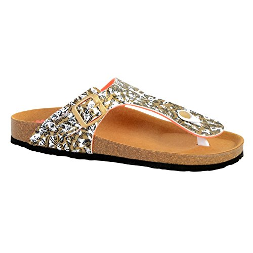 Sandales Desigual Bio Save The Queen Dorado Multicolore