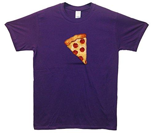 Pizza Emoji T-Shirt Lila