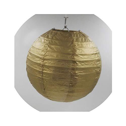 rlaternen Geburtstag Hochzeitsdeko Geschenk-Fertigkeit DIY hängende Kugel-Partei-Versorgungsmaterialien, Gold, 4inch 10cm ()