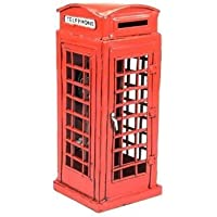 Preisvergleich für Jayland 1:18 Red London Telephone Booth 1920 Saving Bank Tinplate Model by Jayland