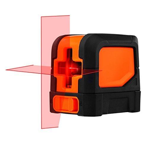 SUAOKI Klassischer Kreuzlinien Laser mit Messbereich 10M und Neigungsfunktion, 110 Grad selbstnivellierenden Kreuzlinienlaser IP 54 Staub- und Spritzwasserschutz