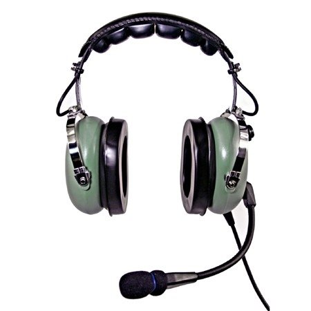 NicePower AN-1000A Passive noise cancelling General Aviation Headset (green) (Headset Seal)