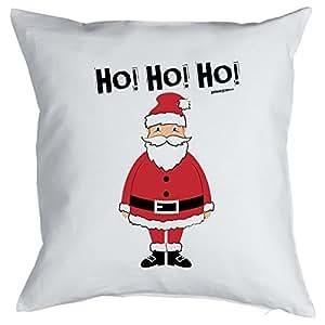 Deko/Funkissen mit Füllung originelles Weihnachts-Motiv: Ho! Ho! Ho! Weihnachtsmann
