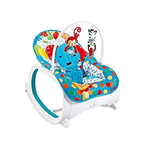 DYHQQ Baby Schaukelstuhl, multifunktionaler elektrischer Kleinkind Schaukelstuhl, Musik Vibration einstellbar Baby Schaukelstuhl