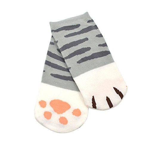 chicmall-new-lady-girls-cartoon-cute-cats-paw-kitty-claws-ankle-short-socks-gray-stripes